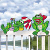 Frog Fence Sitters