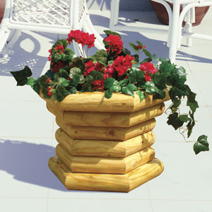 Landscape Timber Deck Planter