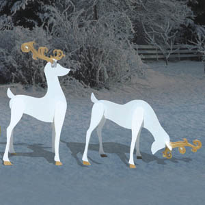 Shadow Plans Sc1078 3 D Reindeer Shadows Woodworking Plans And Projects