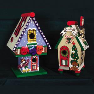Christmas Birdhouses.Christmas Birdhouses