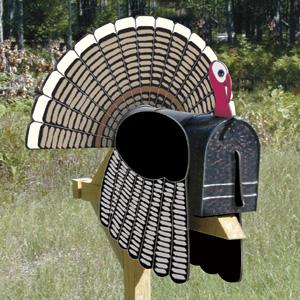 General Plans, SC1919 Turkey Mailbox Topper, Woodworking ...