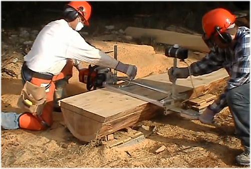 How To Turn A Tree Into Lumber Using Homemade Alaskan Mill