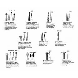 Complete set of burs for GLASS
