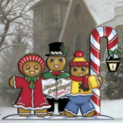 Gingerbread Family Carolers