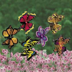 Beautiful Butterfly Whirligigs