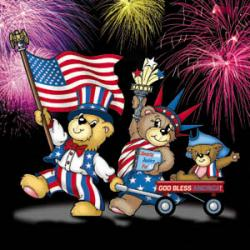 Bear-Y Patriotic Family