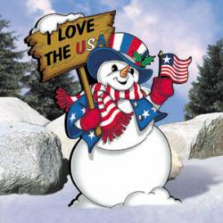 Uncle Sam Snowman