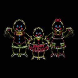 Waving Gingerbread Family - Light