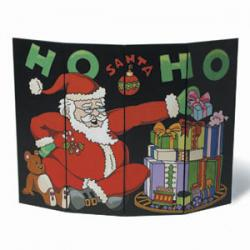 Ho-Ho Santa Fireplace Screen