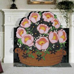 Basket O'blooms Fireplace Scr